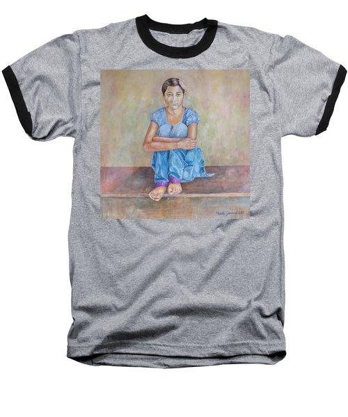 Nepal Girl 4 Baseball T-Shirt