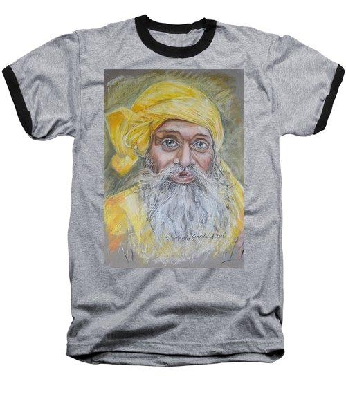 Nepal Man 6 Baseball T-Shirt by Marty Garland