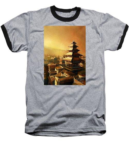 Nepal Temple Baseball T-Shirt