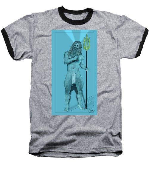 Blue Neptune Baseball T-Shirt