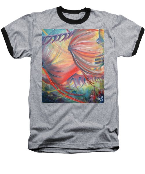 Baseball T-Shirt featuring the painting Neptune's View by Renate Nadi Wesley