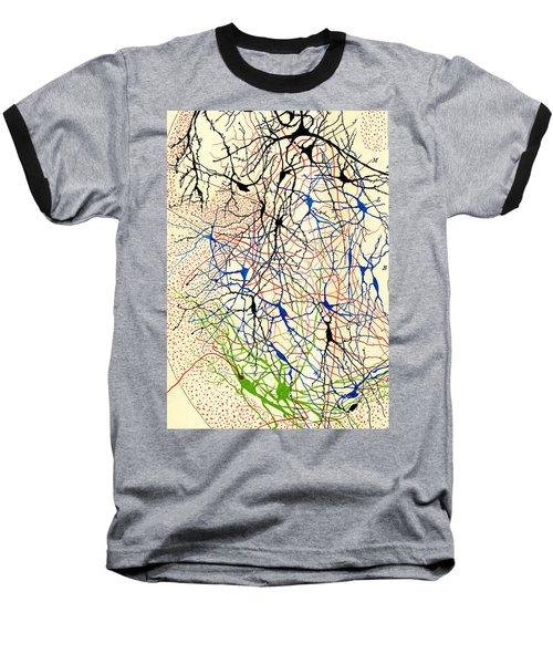 Nerve Cells Santiago Ramon Y Cajal Baseball T-Shirt