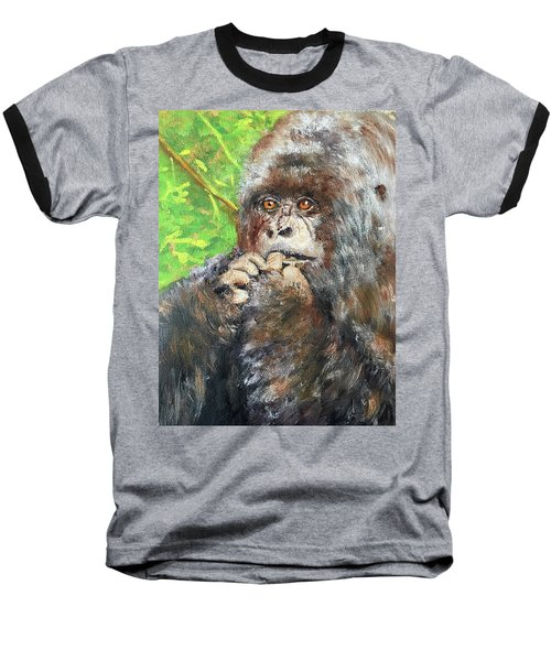 Nervous Mama Gorilla Baseball T-Shirt