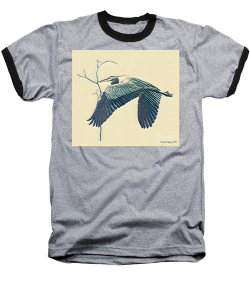 Nesting Heron Baseball T-Shirt