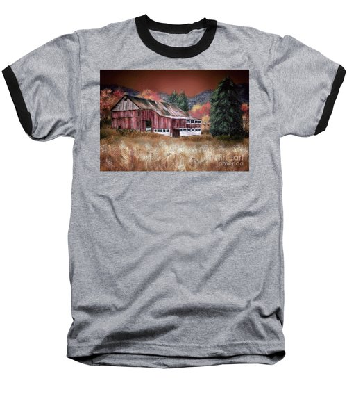 Baseball T-Shirt featuring the digital art Nestled In The Laurel Highlands by Lois Bryan