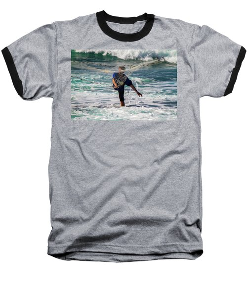 Net Fishing Baseball T-Shirt