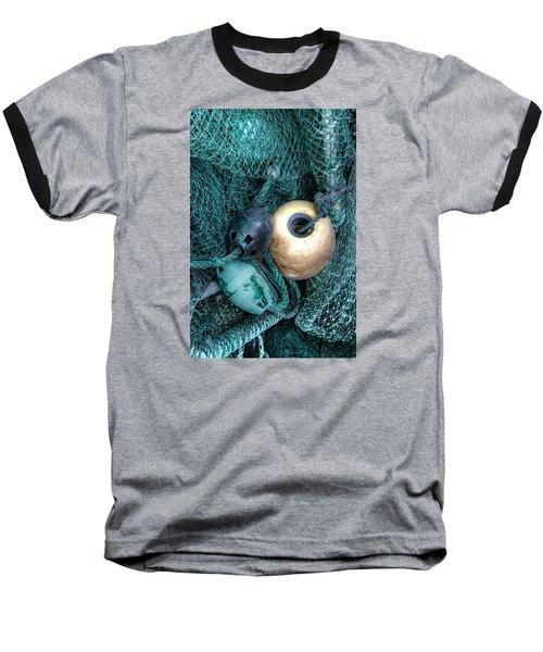 Nets And Buoys Baseball T-Shirt by Lynn Jordan
