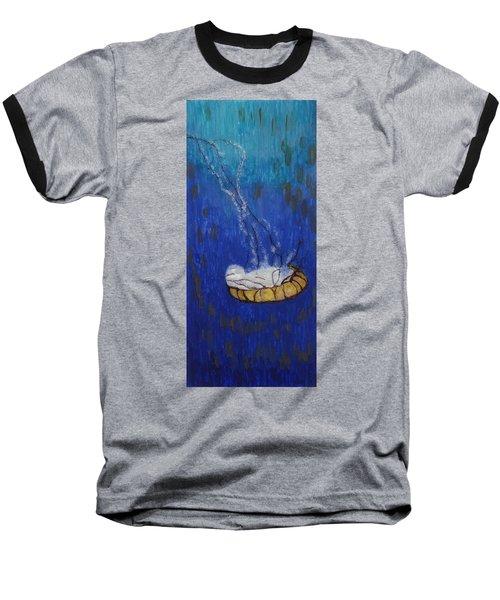 Nettle Jellyfish Baseball T-Shirt by Phil Strang