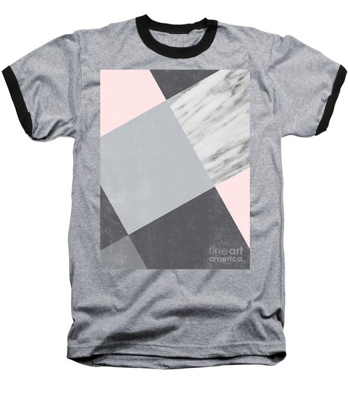 Neutral Collage With Marble Baseball T-Shirt