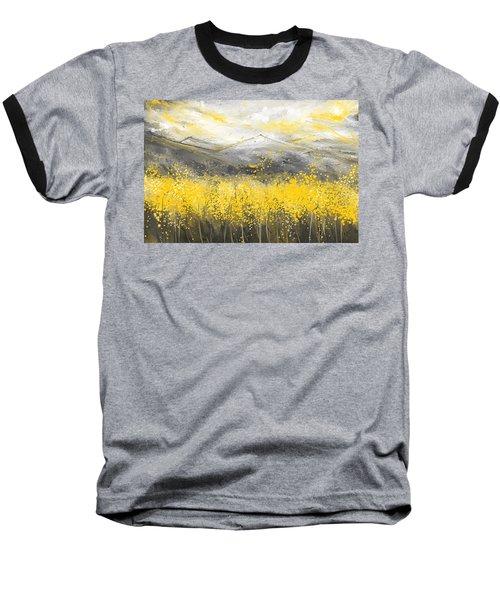 Neutral Sun - Yellow And Gray Art Baseball T-Shirt