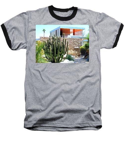 Neutra's Kaufman House 2 Baseball T-Shirt by Randall Weidner