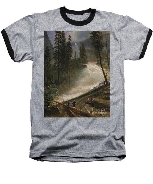 Nevada Falls Yosemite                                Baseball T-Shirt by John Stephens