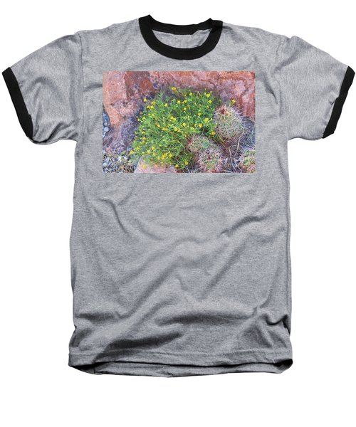 Baseball T-Shirt featuring the photograph Nevada Yellow Wildflower by Linda Phelps