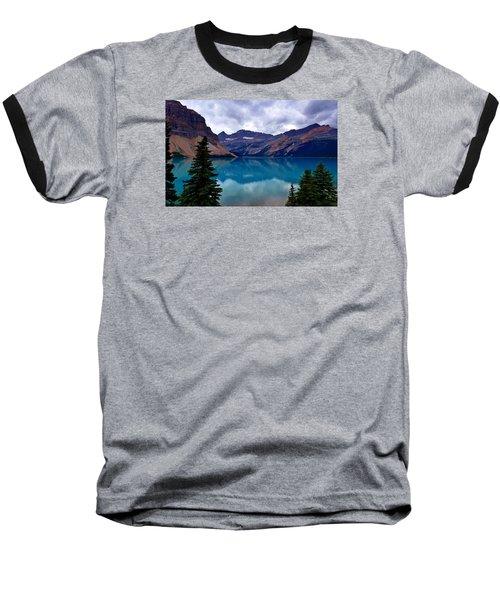 Bow Lake, Banff, Ab  Baseball T-Shirt by Heather Vopni
