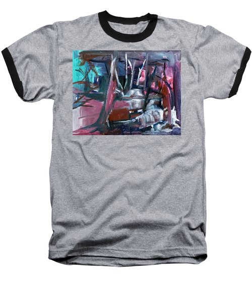 Baseball T-Shirt featuring the painting Never Dark In The Forest by Betty Pieper
