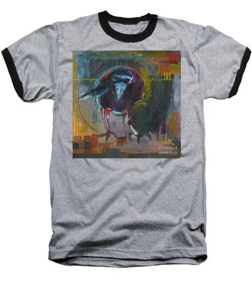 Baseball T-Shirt featuring the painting Nevermore by Ron Stephens