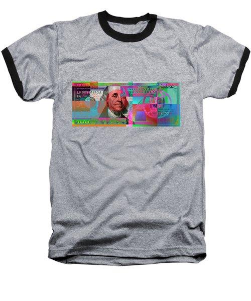 New 2009 Series Pop Art Colorized Us One Hundred Dollar Bill  No. 3 Baseball T-Shirt