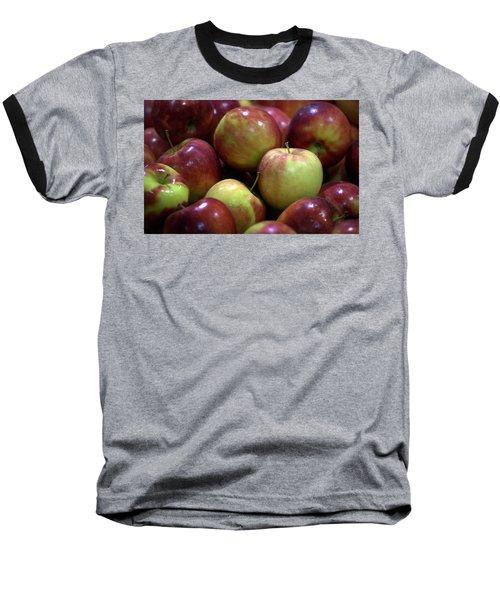 New Apples Baseball T-Shirt by Joseph Skompski