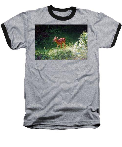 New Backyard Visitor Baseball T-Shirt by Lori Tambakis