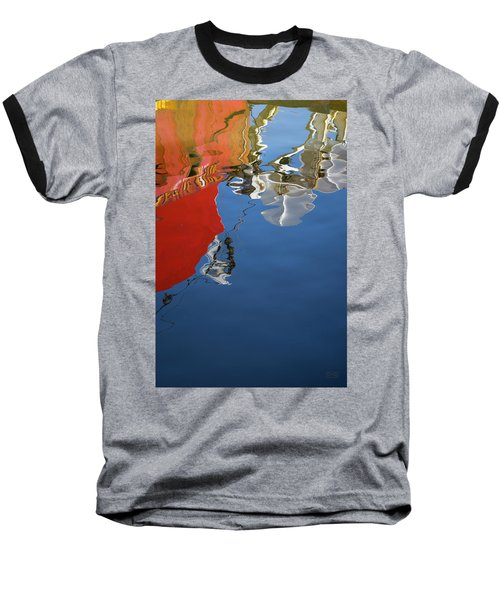 Baseball T-Shirt featuring the photograph New Bedford Waterfront Xxviii Color by David Gordon