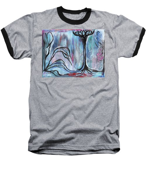 Baseball T-Shirt featuring the painting New Beginnings by Angela Armano
