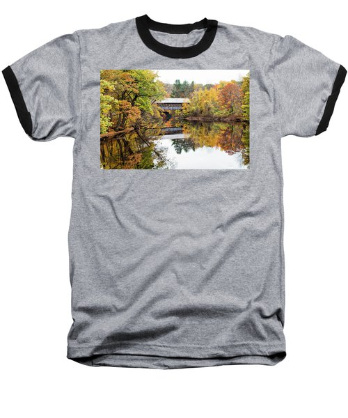New England Covered Bridge No.63 Baseball T-Shirt