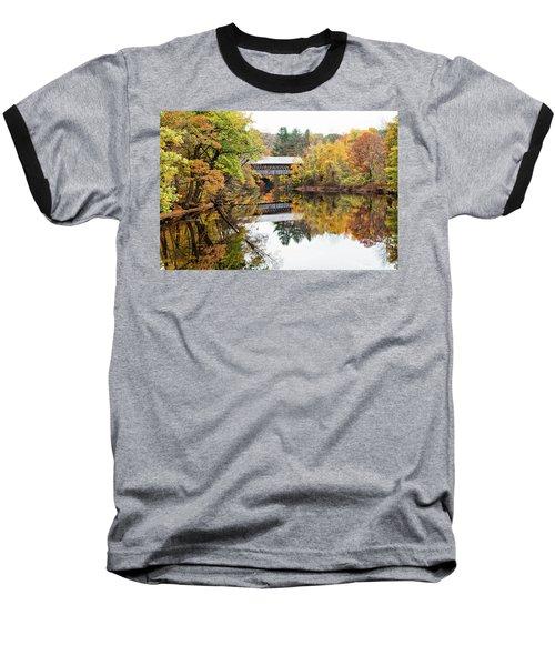 New England Covered Bridge No.63 Baseball T-Shirt