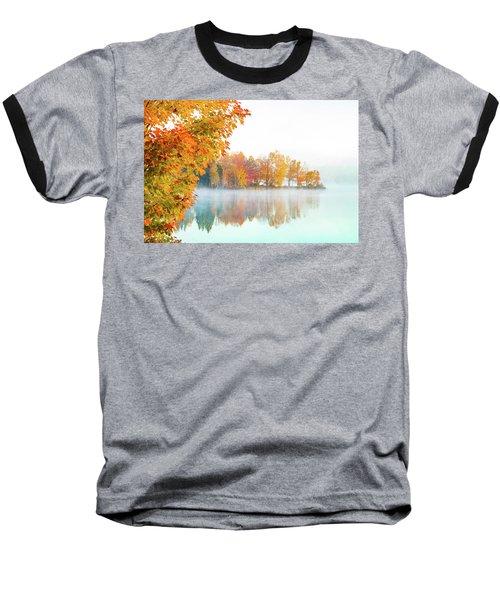 New England Fall Colors Of Maine Baseball T-Shirt
