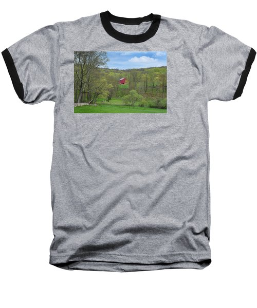 Baseball T-Shirt featuring the photograph New England Spring Pasture by Bill Wakeley