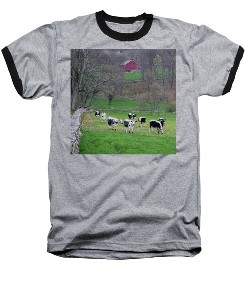 Baseball T-Shirt featuring the photograph New England Spring Pasture Square by Bill Wakeley