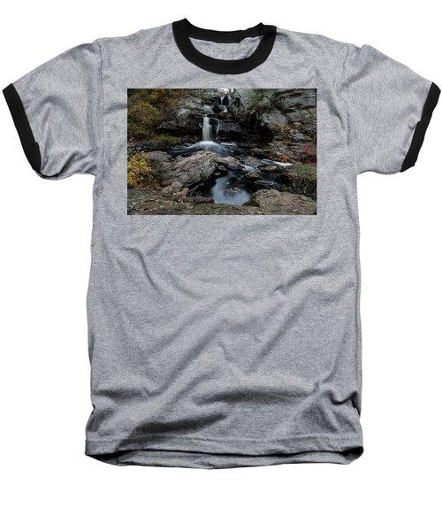 New England Waterfall In Autumn Baseball T-Shirt