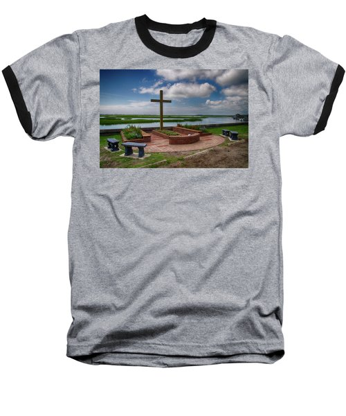 New Garden Cross At Belin Umc Baseball T-Shirt by Bill Barber