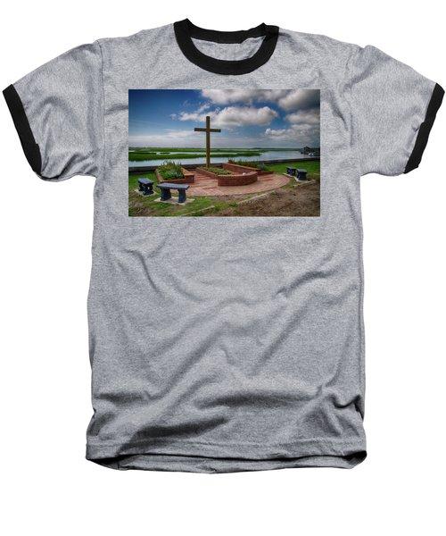 Baseball T-Shirt featuring the photograph New Garden Cross At Belin Umc by Bill Barber