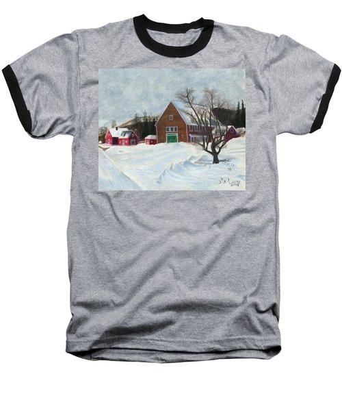 New Hampshire Farm In Winter Baseball T-Shirt
