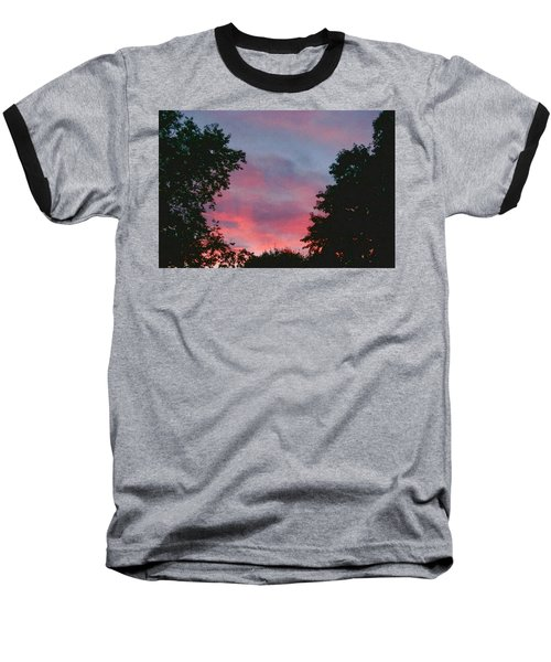 Baseball T-Shirt featuring the digital art New Hampshire Sunset by Barbara S Nickerson