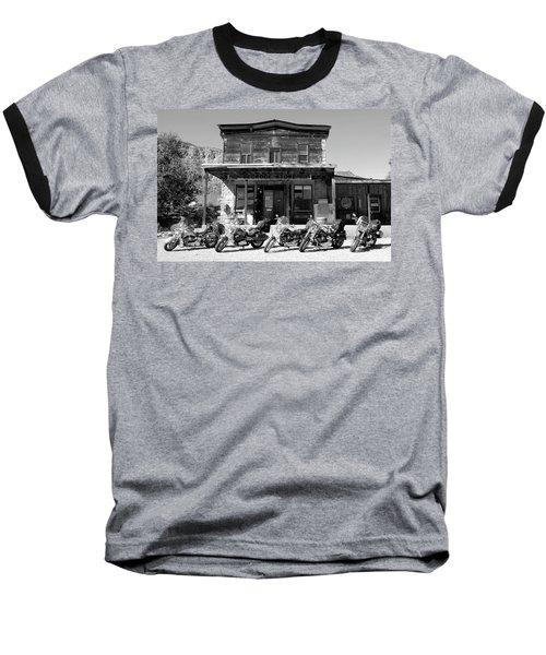 New Horses At Bedrock Baseball T-Shirt by David Lee Thompson