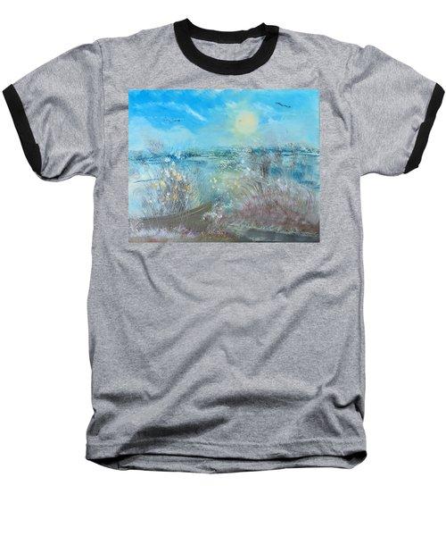 Boat In The Bay Baseball T-Shirt