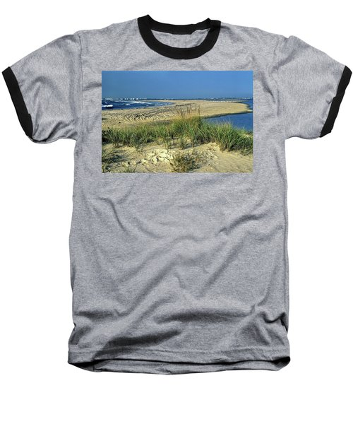 New Jersey Inlet  Baseball T-Shirt by Sally Weigand