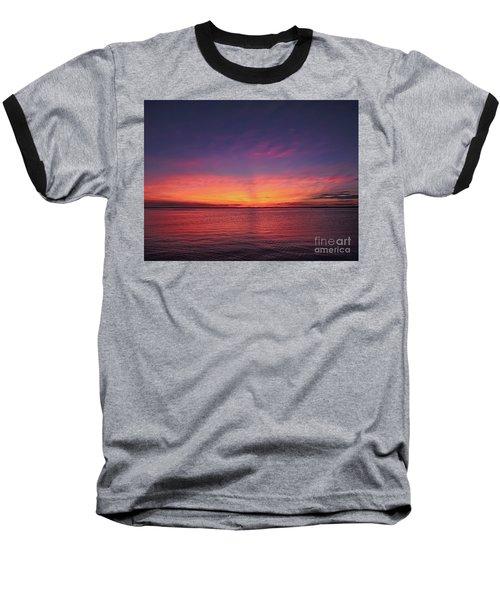 New Jersey Shore Sunset Baseball T-Shirt