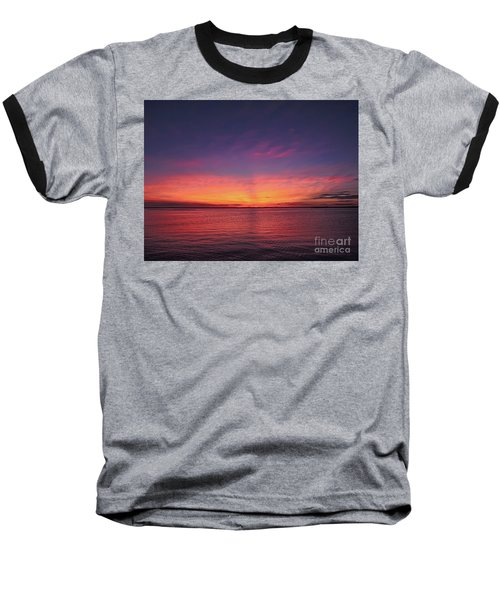 New Jersey Shore Sunset Baseball T-Shirt