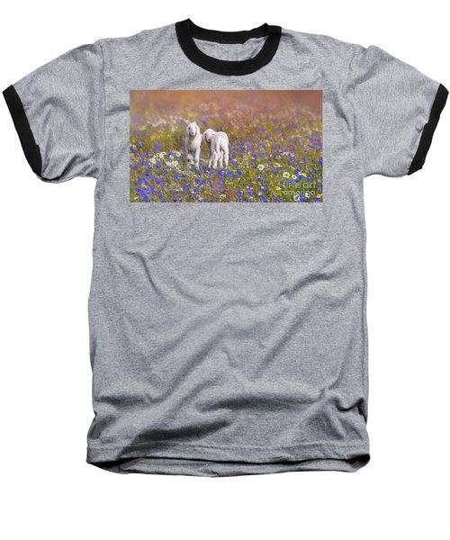 New Life Baseball T-Shirt by Eva Lechner