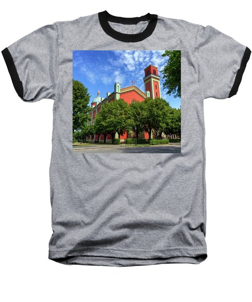 New Lutheran Church In Kezmarok, Slovakia Baseball T-Shirt by Elenarts - Elena Duvernay photo