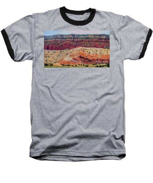 New Mexico Hillside Baseball T-Shirt by Gina Savage
