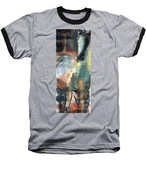 New Mexico Horse Three Baseball T-Shirt by Frances Marino