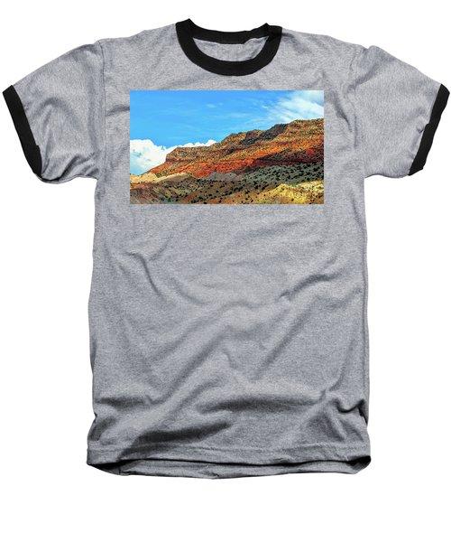 New Mexico Landscape Baseball T-Shirt by Gina Savage