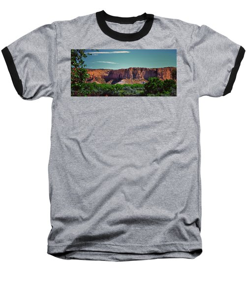 New Mexico Mountains 004 Baseball T-Shirt by George Bostian