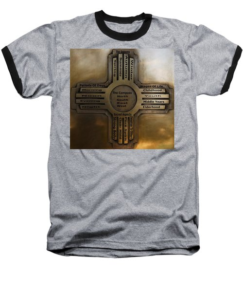 Baseball T-Shirt featuring the photograph New Mexico State Symbol The Zia by Joseph Frank Baraba