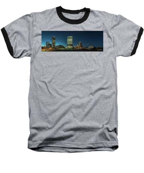 New Milwaukee Skyline Baseball T-Shirt by Randy Scherkenbach