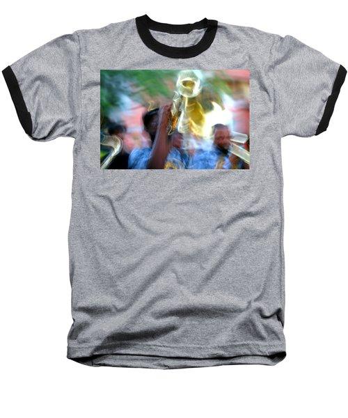 New Orleans Abstract Street Jazz Performance Baseball T-Shirt