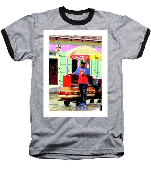 New Orleans Hotdog Vendor Baseball T-Shirt